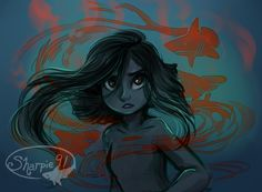 sharpie91: Another drawing of Vera. (My shark mermaid oc)