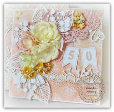 Birthday card designed by Henryka Kowacz for Where Ideas Bloom using the sweet yellow flowers from the store.
