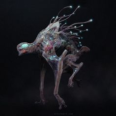 I had the pleasure of working with Dan Trachtenberg and the folks at Bad Robot Productions on the feature film, 10 Cloverfield Lane. It was a huge opportunity, and an amazing project to be a part of! Alien Concept Art, Creature Concept Art, Aliens, Monster Design, Monster Art, Alien Creatures, Fantasy Creatures, Creature Feature, Creature Design