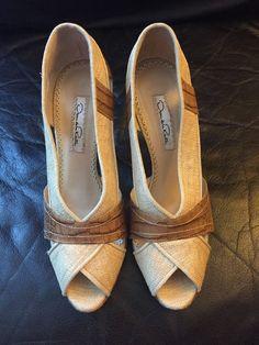 Mint Condition Oscar De La Renta Pumps Peep Toes Stilettos Shoes Size 38.5  | eBay