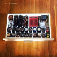 How To Make a Watch Drawer | The Time Bum Watch Organizer Diy, Watch Storage, Watch Display Case, Watch Case, How To Make Watch, Mens Watch Box, Watch Holder, Drawer Organisers, Watches For Men
