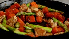 This Asparagus Sweet Potato Chicken Skillet recipe is a delicious, healthy, and easy-to-make meal that will be on your dinner table in less than 30 minutes. This is gluten-free, whole30, paleo, and perfect for your busy days. #onepanmeal #sweetpotato #chickenrecipe
