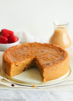Jamaican Cornmeal Pone- An Easy yet indulgent Caribbean Dessert made with Cornmeal enjoyed in barbados, Jamaica, and trinidad Jamaican Desserts, Jamaican Dishes, Jamaican Recipes, Jamaican Cuisine, Cornmeal Recipes, Baking Recipes, Cake Recipes, Dessert Recipes, Cornmeal Pudding Recipe Jamaican