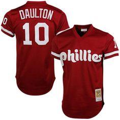 10317744679 Darren Daulton Philadelphia Phillies Mitchell   Ness Cooperstown Mesh  Batting Practice Jersey - Red Darren Daulton