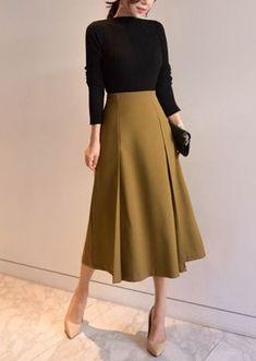 ファッション ファッション in 2020 Elegant Outfit, Classy Dress, Classy Outfits, Chic Outfits, Modest Fashion, Hijab Fashion, Korean Fashion, Fashion Dresses, Long Skirt Fashion