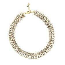 loveRocks Gold Tone Baguette Crystals 43cm Necklace with Extender