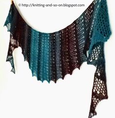 Knitting and so on: Seifenblasen Lace Scarf