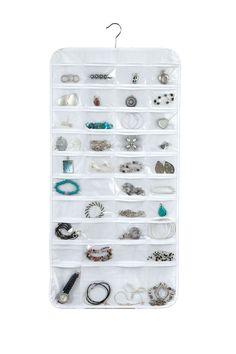 80 Pocket Jewelry Organizer - Clear Vinyl