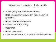 activiteiten ouderen dementie - Google zoeken