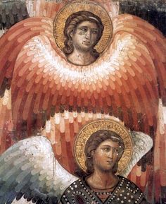 Pietro Cavallini, Angels from the Last Judgment (detail), basilica di Santa Cecilia in Trastevere
