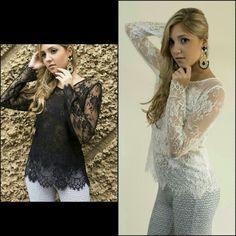 Black our White,  qual é  a mais linda?  Amei as duas blusas toda em renda. Pura sofisticação,  glamour  vocês  não  acham?  Então,  já  está  disponível  aqui na loja e em nosso site também.  Acesse já : www.santollo.com.br