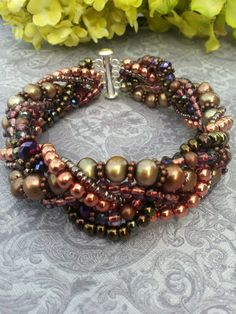 Beaded Braided Bracelet by suzanneshores on Etsy