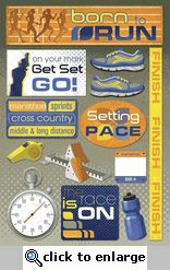 Cross Country Stickers, for scrapbooking