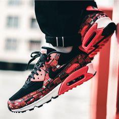 """Nike Air Max 90 Print """"We Love Nike"""" Bright Crimson Nike Air Max a293ee443"""