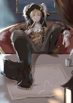 by のり - Hetalia - England (Arthur Kirkland)... pirate England is one of the sexiest things ever *drools*