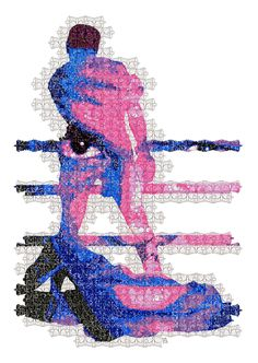 Float and Sting Muhammad Ali from butterflies and bees #muhammadAli #boxing #Tessellation #Portrait #Art #Geometry #Ali #thegreatest