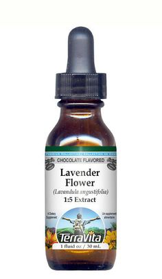 Lavender Flower Glycerite Liquid Extract (1:5) Chocolate Flavored