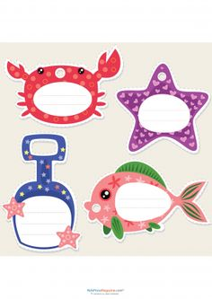 Back to school name cards 2 classroom student centered for Cute names for fish