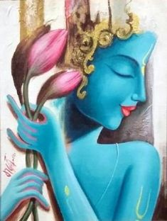 Finding Krishna by Madan Lal Buddha Painting, Krishna Painting, Buddha Art, Acrylic Canvas, Canvas Art, Photography Love Quotes, Nature Photography, Fitness Photography, Arte Krishna