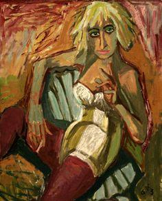Dix, Otto (German, 1891-1969) - Frau Eleonara Frey II - 1936
