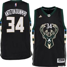 Men s Milwaukee Bucks Giannis Antetokounmpo adidas Black Swingman climacool  Jersey 67ec634ac