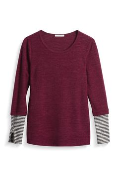Stitch Fix ~ Fall 2017 - note to stylist, like the simplicity yet it has some unique details on the sleeves with the zippers!