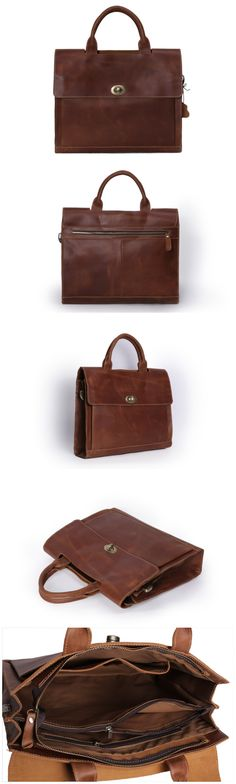 55643be0d Leather Briefcase/ Messenger Bag/ Laptop Bag Briefcase For Men, Leather  Briefcase, Men's