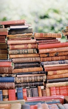 So much life in those books-- their spines weathered by the many readers and the many years...