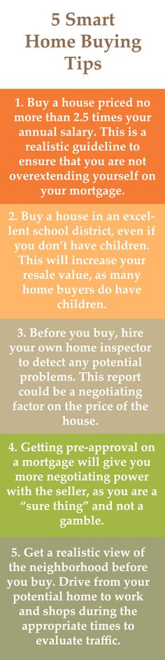 5 Smart Home Buying Tips. Thinking of Buying or Selling contact me at BethCtheRealtor@gmail.com