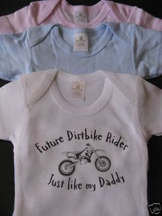 Future Dirtbike Rider just like my Daddy onesie