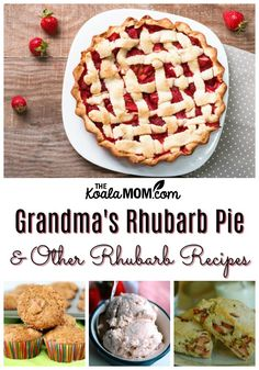 Grandma s Rhubarb Pie and other rhubarb recipes, including rhubarb vanilla scone. Grandma s Rhubarb Pie and other rhubarb recipes, including rhubarb vanilla scones and frozen rhubarb custard. Freeze Rhubarb, Rhubarb Desserts, Rhubarb Recipes, Custard Recipes, Fun Desserts, Baking Recipes, Dessert Recipes, Baking Desserts, Pie Recipes