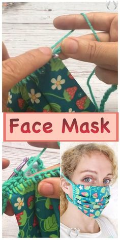 Face Mask DIY No Sew Fabric Crochet Pattern - Crafting on the Fly  <br> Easy Knitting Projects, Easy Knitting Patterns, Sewing Patterns Free, Sewing Tutorials, Pattern Sewing, Free Pattern, Free Sewing, Sewing Tips, No Sew Projects