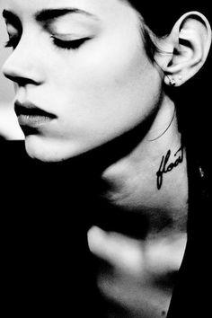 13 inspiring delicate tattoos: Float // Freja Beha Erichsen #model #beauty #tattoo