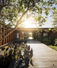 Lovely wooden The House in is designed by Jacobsen Arquitetura and is located in // Photo by Fernando Guerra via - Architecture and Home Decor - Bedroom - Bathroom - Kitchen And Living Room Interior Design Decorating Ideas - Japanese Architecture, Interior Architecture, Modern Exterior, Interior And Exterior, Room Interior, Interior Design, Modern Pools, Inspiration Design, Architect House