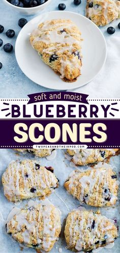 These Blueberry Scones are a great on-the-go breakfast or back-to-school lunch idea! The scones always come out perfectly soft and moist every time. Try this best blueberry scones recipe!