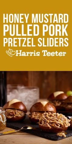 Score big on game day with these Honey Mustard Pulled Pork Pretzels! #TeeterRecipes