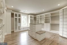 This newly built stone & stucco home is located at 6806 Lupine Lane in McLean, Virginia and is situated on an acre of land. Master Closet Design, Walk In Closet Design, Master Bedroom Closet, Closet Designs, Dressing Room Closet, Dressing Room Design, Closet Layout, Closet Remodel, Luxury Closet