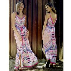 The EDIZA print maxi dress - PINK ️HPx2Woot woot! It's maxi dress time again! Look boho chic & comfy. Pair with sandals & you're off! PAINT THE TOWN PINK. ‼️NO TRADE‼️ Bellanblue Dresses Maxi