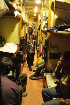 Selling chai on the train to Varanasi