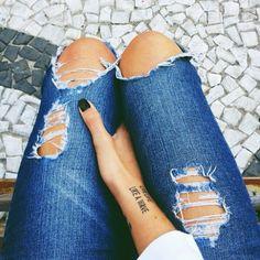 Tatt and jeans