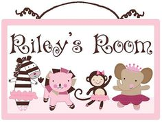 Personalized Tutu Cute/ Ballerina Animals by PersonalizedbyDiane, $19.99   Baby Gift, Nursery Decor, Personalized sign