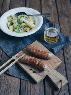 FoodLover: Německý bramborový salát a durynská klobása Dairy, Cheese, Cooking, Food, Kitchen, Essen, Meals, Yemek, Brewing