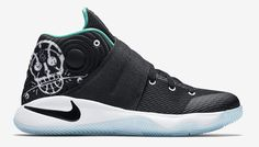 Nike Kyrie 2 Skateboard Skulls Release Date. The Nike Kyrie 2 Court Deck Skateboard is a GS that comes in black and jade with skateboards and skulls. All Nike Shoes, Discount Nike Shoes, Nike Shoes For Sale, Nike Basketball Shoes, Sneakers Nike, Nike Factory Outlet, Nike Outlet, Kyrie Irving Shoes, Cheap Mens Shoes