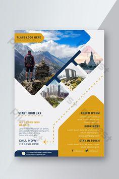 Travel Agency Flyer Design Template#pikbest# Flyer Layout, Brochure Layout, Brochure Design, Graphic Design Layouts, Graphic Design Posters, Modele Flyer, Catalogue Layout, Visiting Card Design, Flyer Design Inspiration