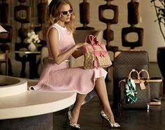 This is a Vuitton ad but I love the dress & shoes. Classic.