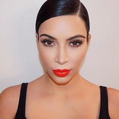 """""""Can't wait to share this red lip tutorial I did with @patrickta on my app!"""""""