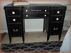 Antique desk/dresser painted with chalk paint, distressed and waxed.
