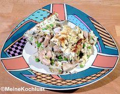 Reisgratin mit Putenstreifen - Rice au gratin with turkey stripes