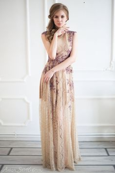 Amethyst Embroidered Wedding Dress
