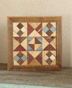 wooden barn quilt americana quilt block red by IlluminativeHarvest